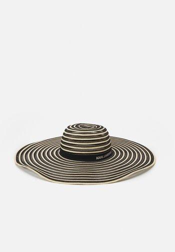 ESSENTIAL STRIPE FEDORA - Hat - black