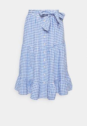 GINGHAM - A-line skirt - medium blue