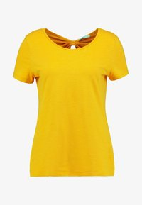 edc by Esprit - OCS BACK DETAIL - Print T-shirt - honey yellow - 4