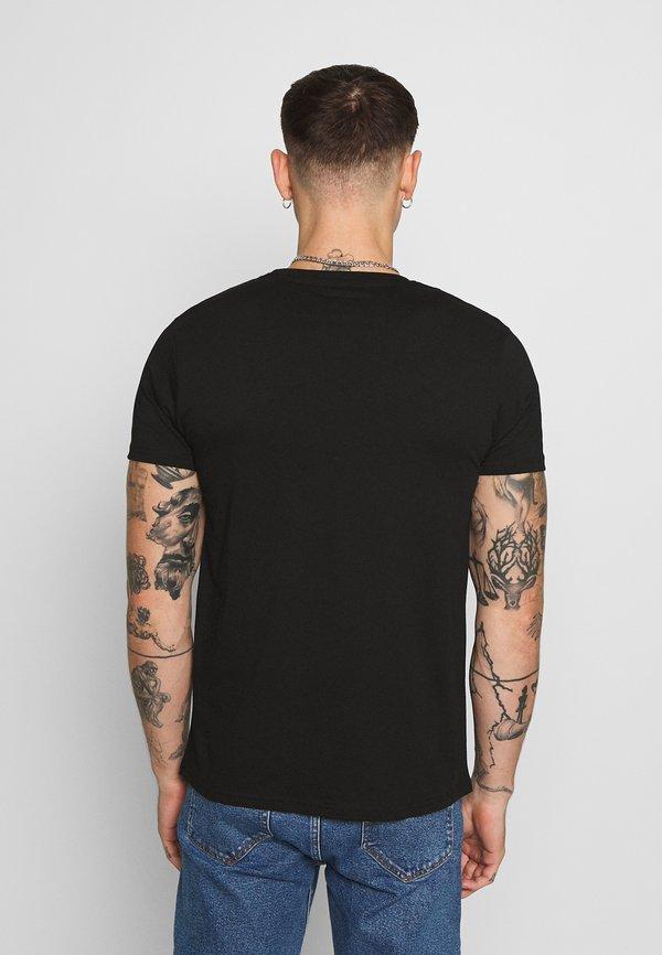 Alpha Industries NASA RAINBOW - T-shirt z nadrukiem - black/czarny Odzież Męska RWKB