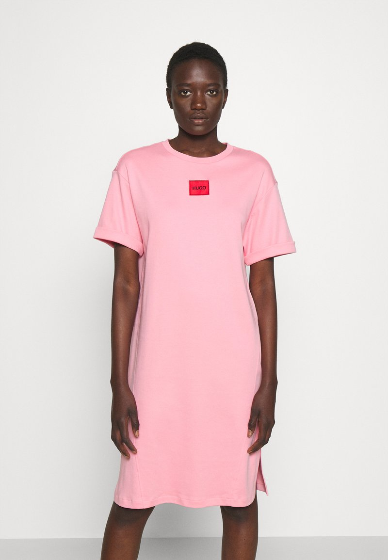 HUGO - NEYLE - Jersey dress - bright pink