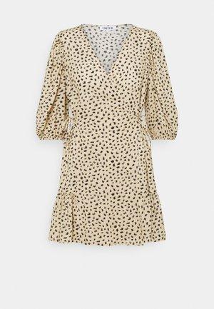 GEMMA DRESS - Day dress - beige/black