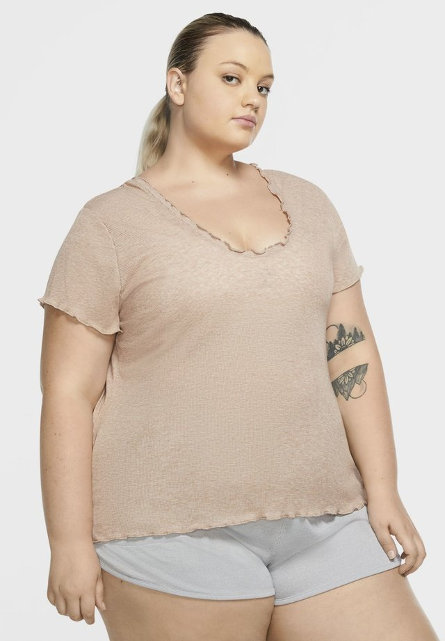 T-shirts basic - desert dust/heather/fossil stone