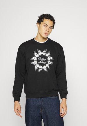 BUTTERFLY CIRCLE CREW UNISEX - Sweatshirt - black