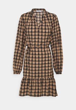 FLORENE - Day dress - brown check