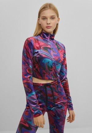 BEDRUCKTES - Long sleeved top - neon pink