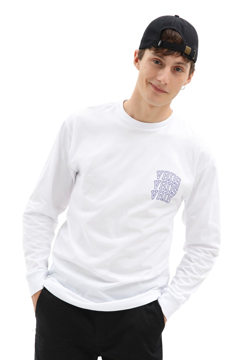 Vans - MN NEW VARSITY LS - Long sleeved top - white