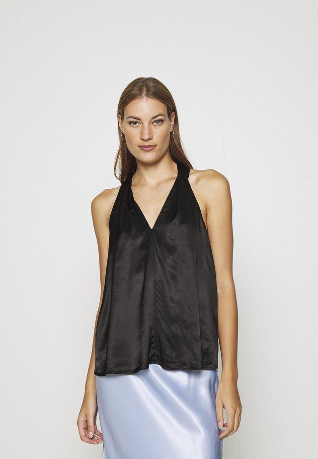 SLFMARALDA STRAP - Bluse - black