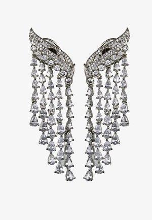 MIDNIGHT WATERFALL - Earrings - silver