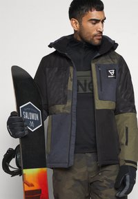 Brunotti - ARACIN PATCHWORK MENS SNOWJACKET - Snowboard jacket - space blue - 4