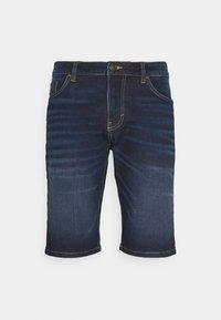 TOM TAILOR - JOSH - Denim shorts - dark stone wash denim - 0