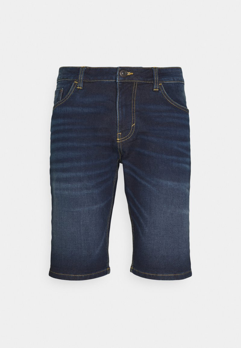 TOM TAILOR - JOSH - Denim shorts - dark stone wash denim