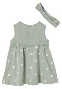Vertbaudet - Day dress - graugrün bedruckt - 1