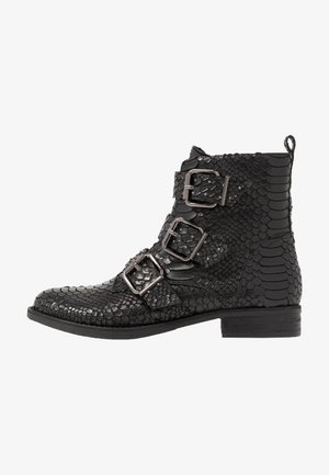 DREW - Cowboy/biker ankle boot - black