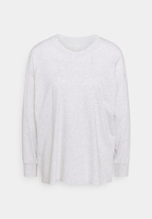 TEE CUFFS - Longsleeve - light heather gray