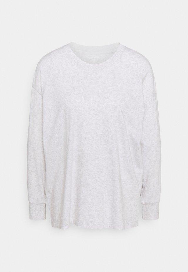 TEE CUFFS - Pitkähihainen paita - light heather gray