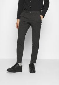 Only & Sons - ONSMARK PANT STRIPE - Bukser - dark grey melange - 0