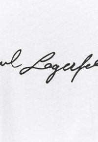 KARL LAGERFELD - SIGNATURE - Triko spotiskem - white - 6