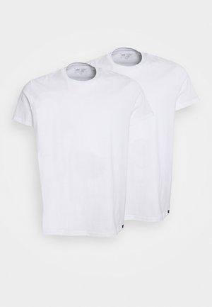TWIN CREW 2 PACK - Basic T-shirt - white