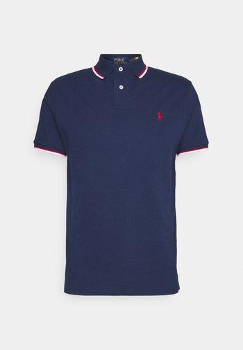 CUSTOM SLIM FIT MESH POLO SHIRT - Polo shirt - newport navy