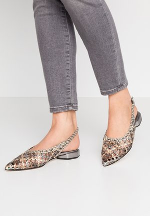 Slingback ballet pumps - multicolor/metal