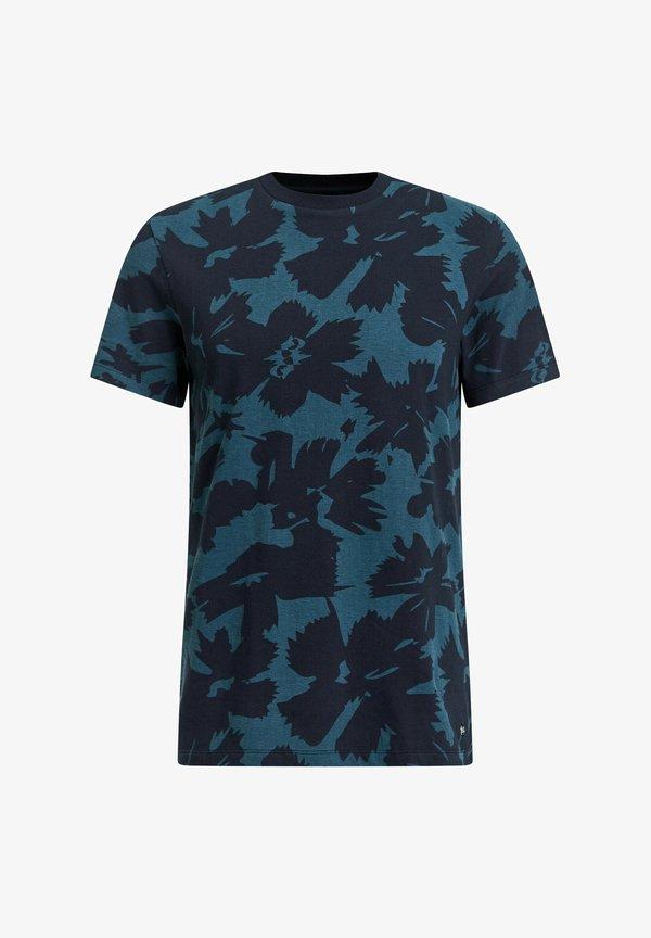 WE Fashion T-shirt z nadrukiem - dark blue/granatowy Odzież Męska XAMD
