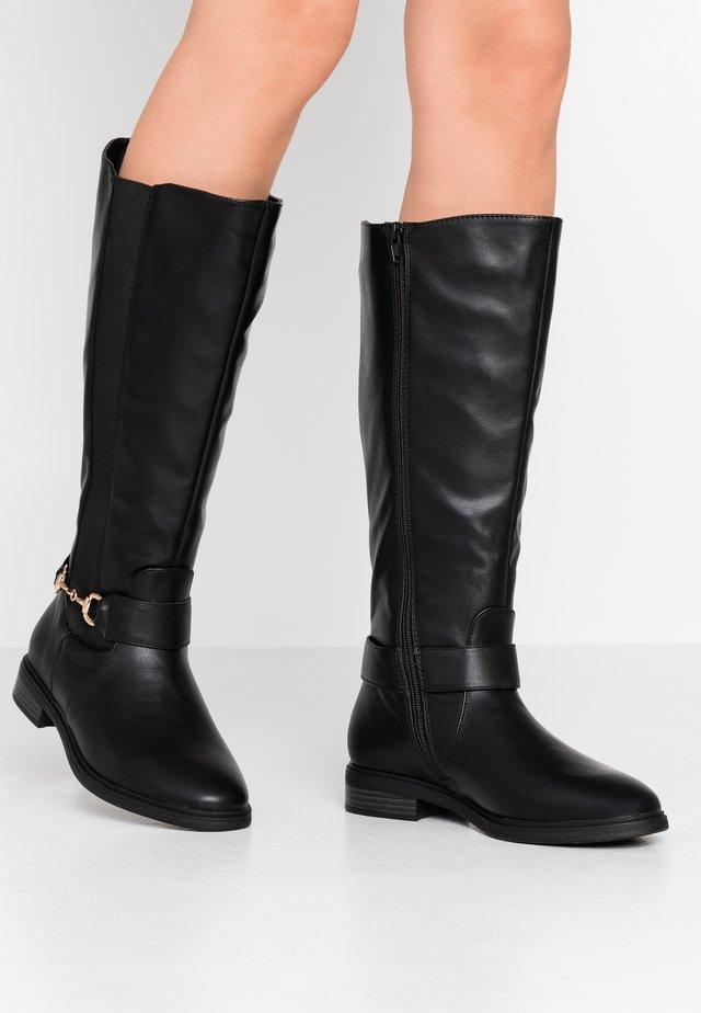 WIDE FIT LENNY - Vysoká obuv - black