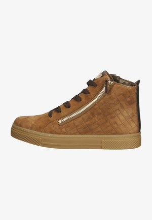 Sneakers hoog - hazel/bronce