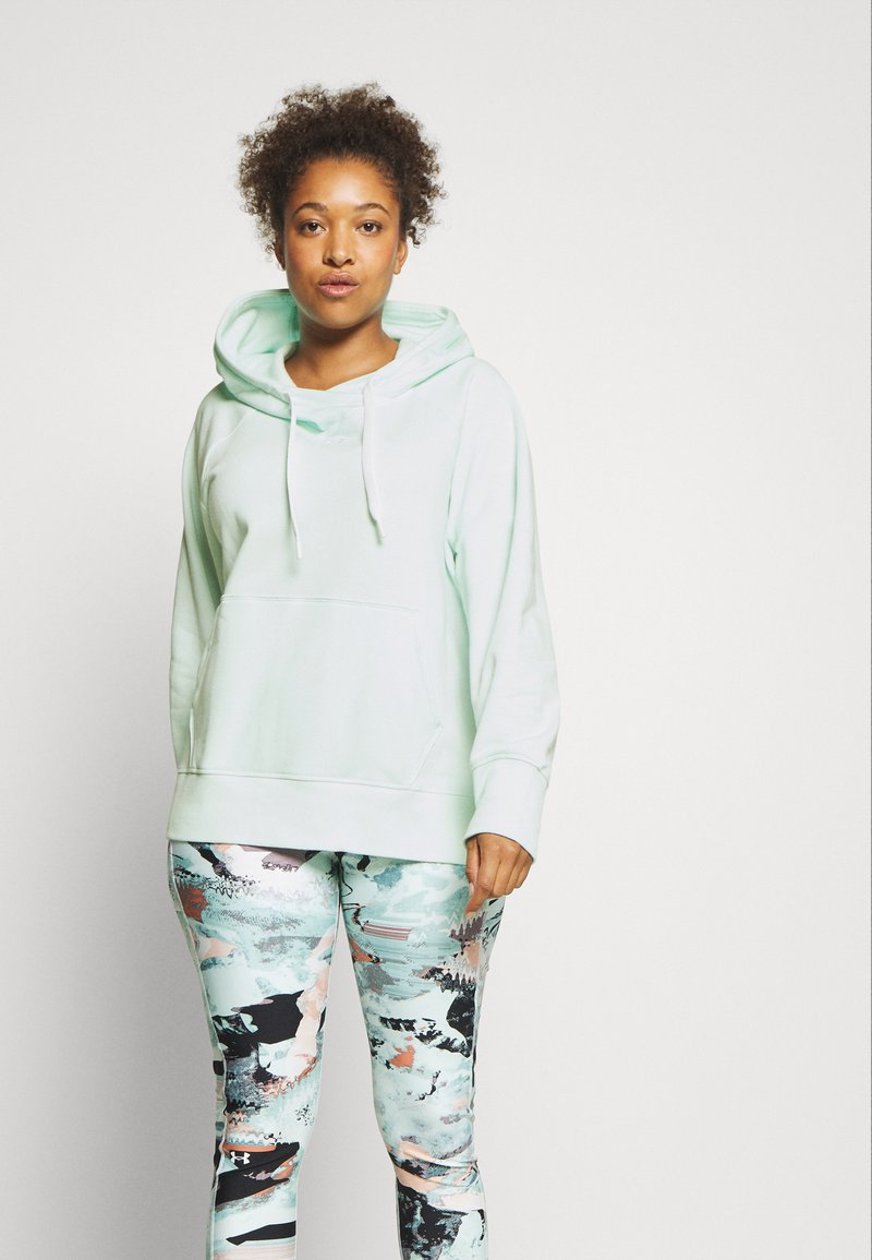 Under Armour - RIVAL HOODIE - Mikina - seaglass blue