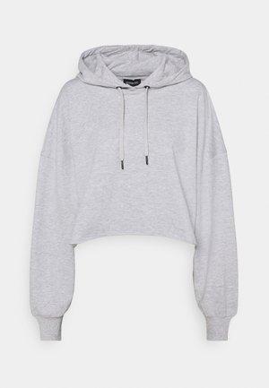 Jersey con capucha - mottled light grey