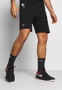 Lacoste Sport - SHORT TAPERED - Sports shorts - black/silver chine - 0
