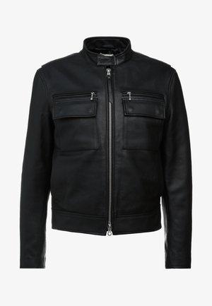 LUKE - Leather jacket - black