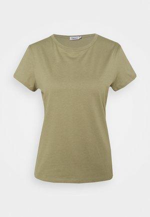 EDNA - Jednoduché triko - sage green