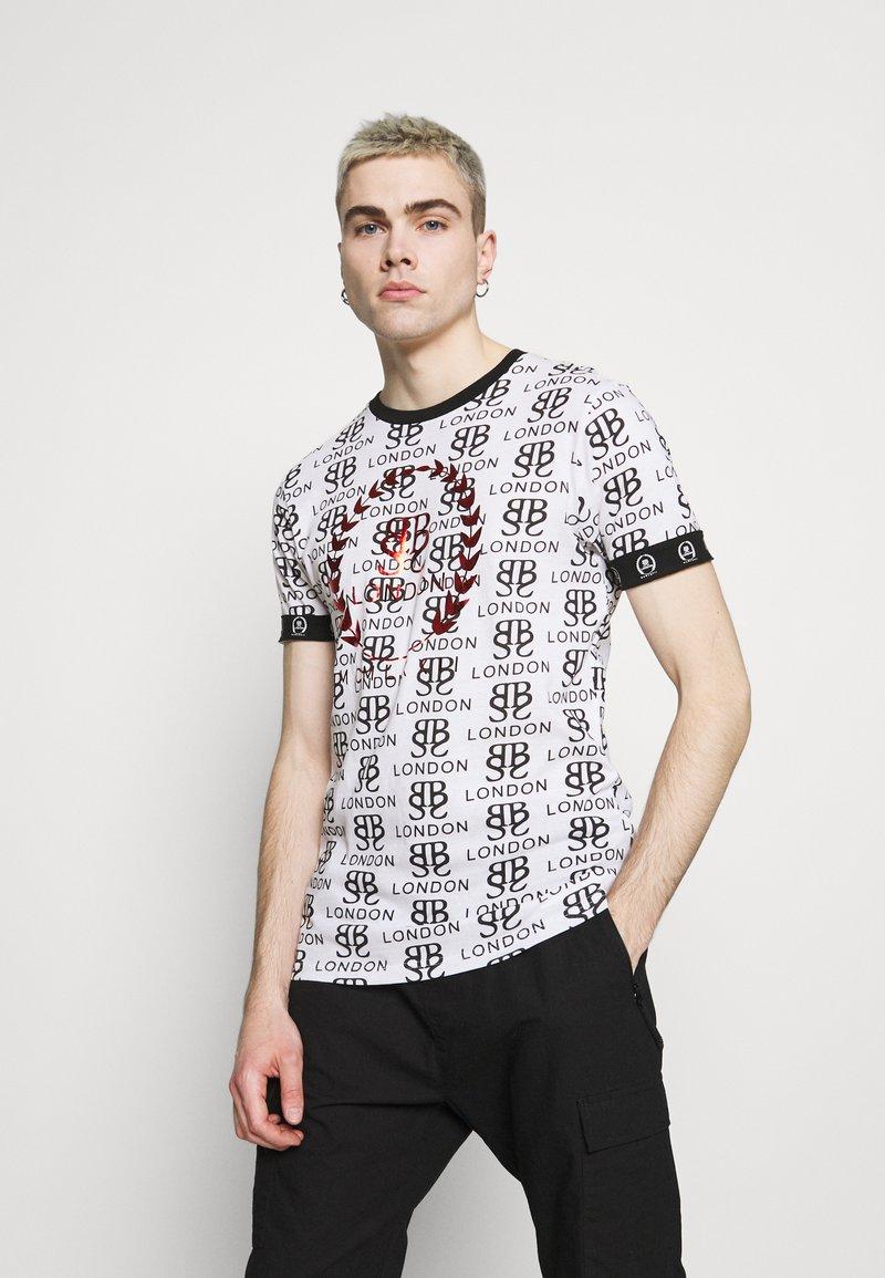 Brave Soul - Print T-shirt - optic white/black/red