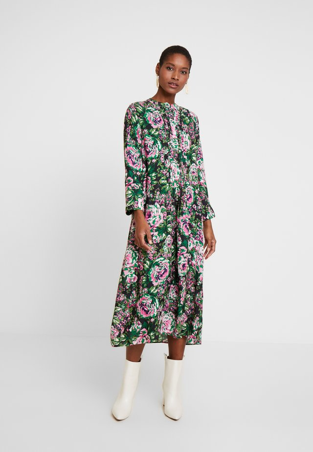 DRESS WITH PIN TUCKS - Vapaa-ajan mekko - multi-coloured/black/neon pink