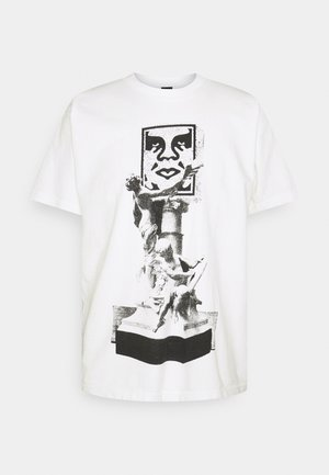 OBEY BUST - Printtipaita - white