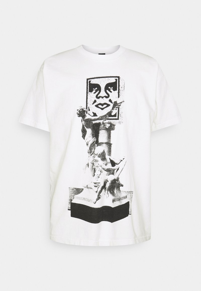 Obey Clothing - OBEY BUST - Printtipaita - white