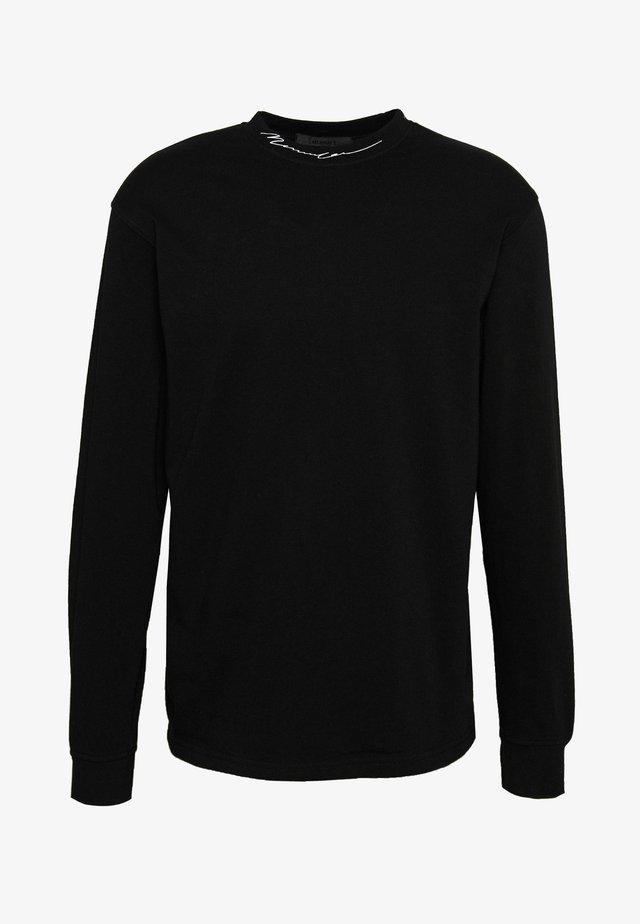 ESSENTIAL SIGNATURE HIGH NECK - Maglietta a manica lunga - black