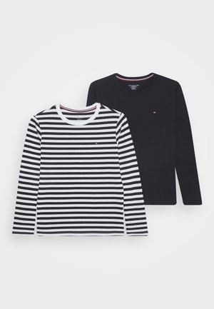STRIPE TEE 2 PACK - Pyjama top - blue