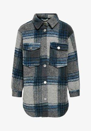 Krótki płaszcz - blue graphite