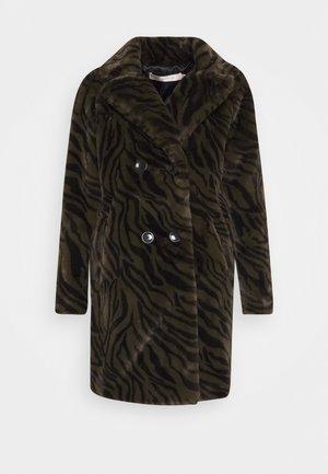 COAT ZEBRA LONG - Klassisk frakke - olive