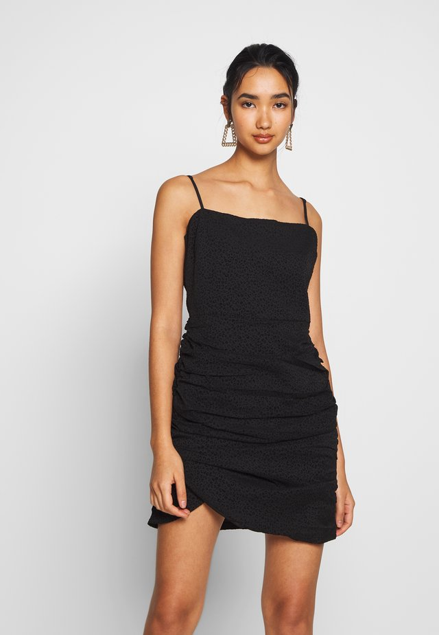 AYLA MINI DRESS - Korte jurk - black