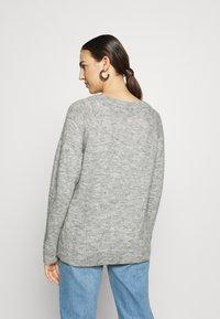 Selected Femme - Strickpullover - light grey melange - 2