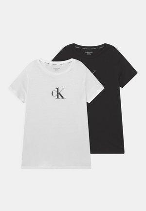 TEE 2 PACK - T-shirt print - white/black