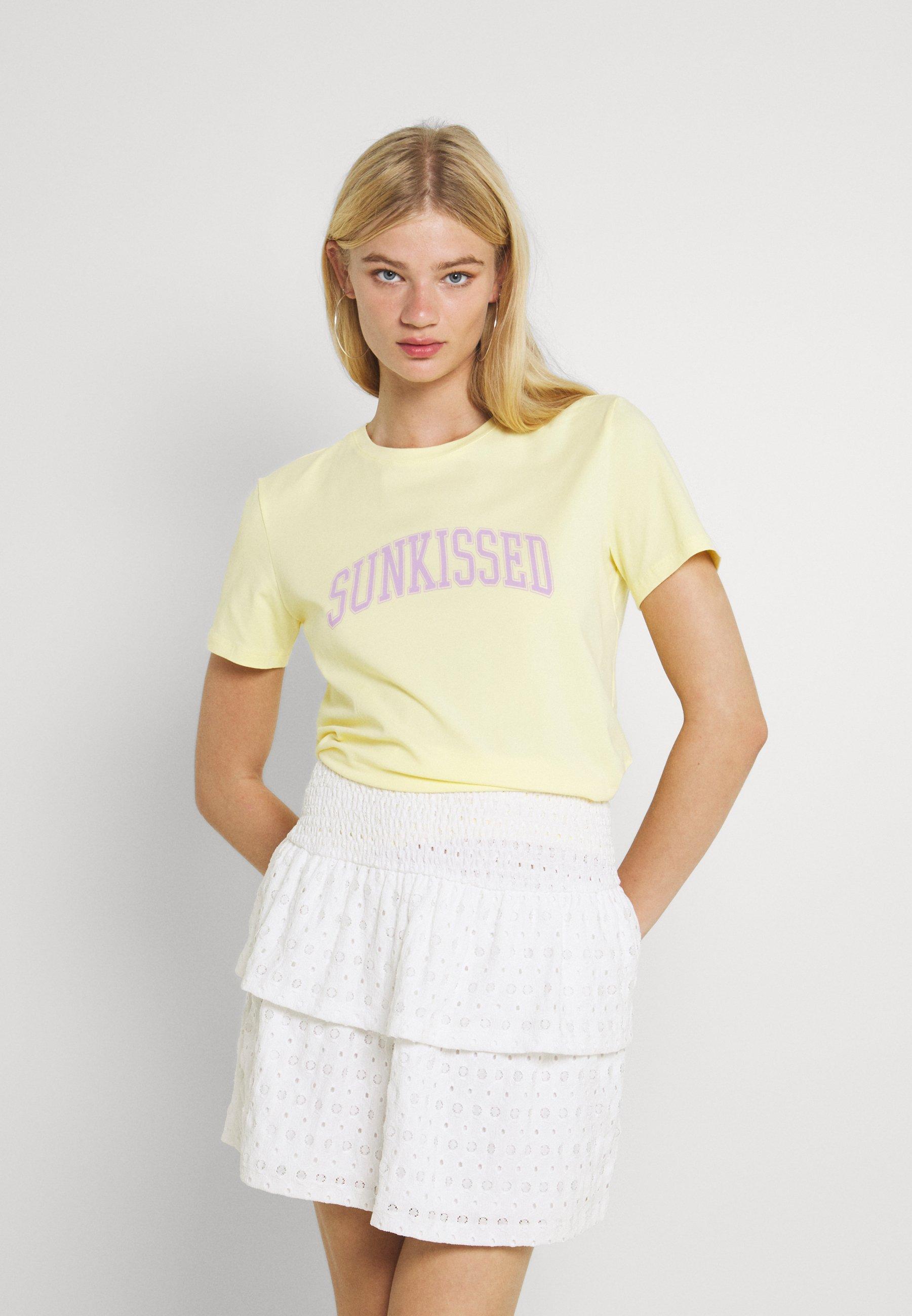 Mujer PCSUNKISSED TEE - Camiseta estampada