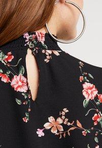 ONLY - ONLNOVA HIGHNECK DRESS - Shirt dress - black/red - 4