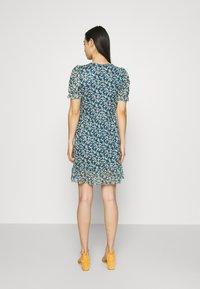 Vila - VIVOLETTE WRAP DRESS - Vestido informal - navy blazer/cottage - 2