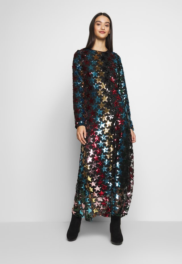 SHOOTING STAR DRESS - Iltapuku - black/multi-coloured