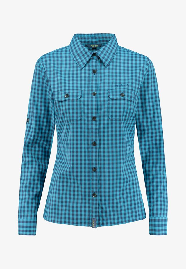 BAYONNE - Button-down blouse - turquoise
