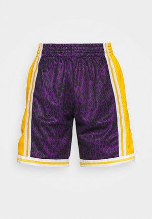 NBA LOS ANGELES LAKERS WILD LIFE SWINGMAN SHORT - Club wear - purple